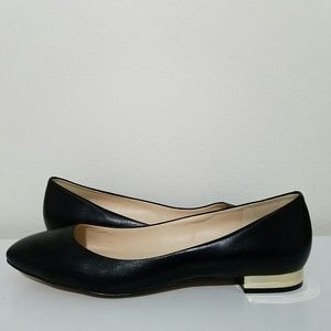Nine West Fiore Flats Leather Slip On Black 12M